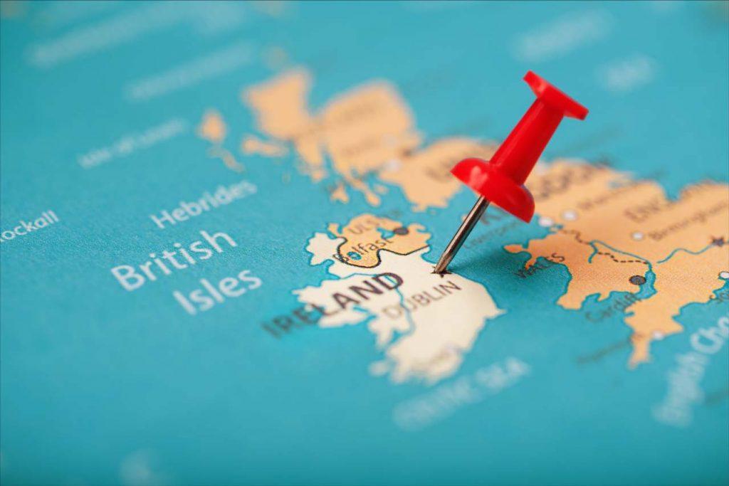 ireland map showing dublin
