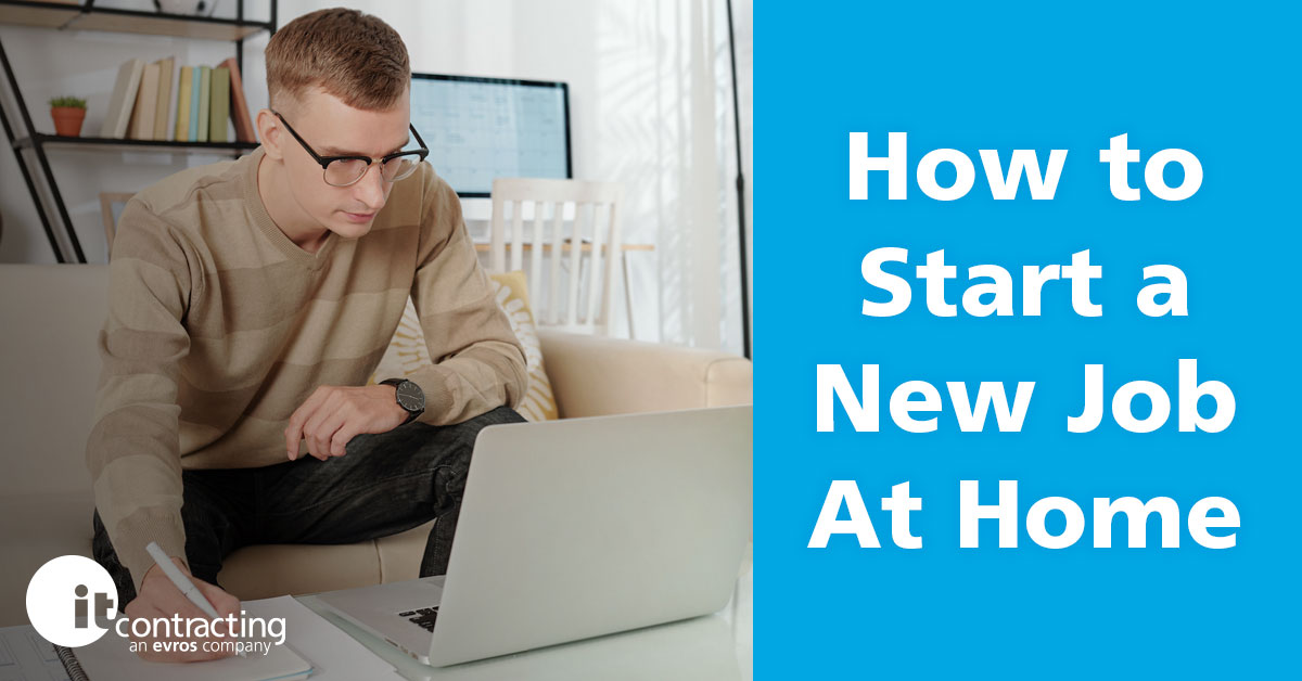 how to start a new job while working from home